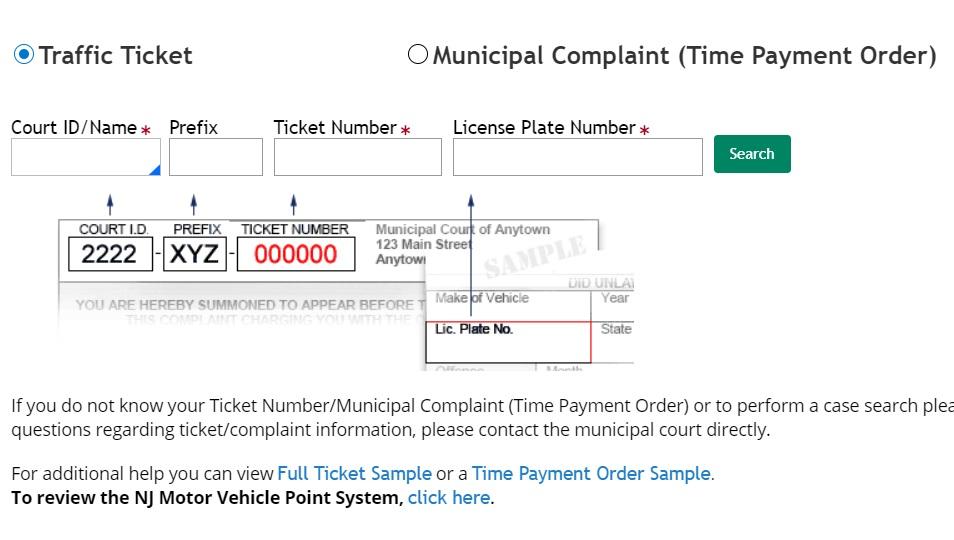 NJMCDirect – Pay NJ Traffic Ticket Online