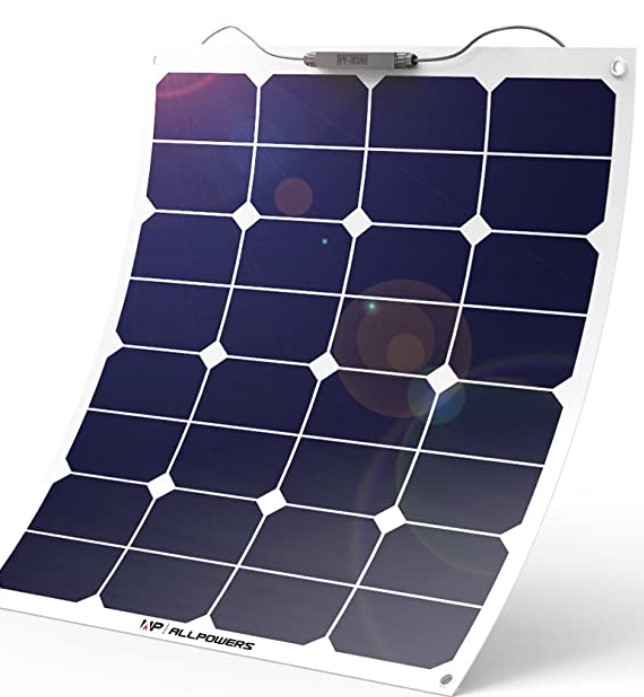 ALLPOWERS 18V 12V 50W Bendable Solar Cell Water Resistant Solar Power Charger for RV, Boat