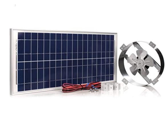 Amtrak 40-Watt Solar Attic Fan