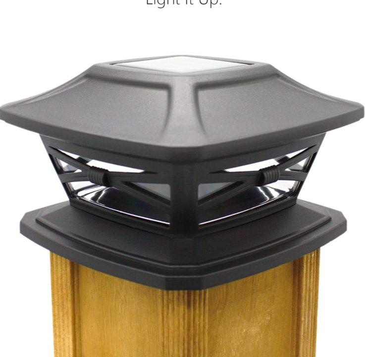 Davinci Flexfit Solar Post Cap Lights - Outdoor Lighting for Wooden Posts