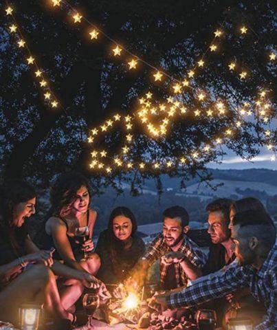 Keshi Solar Star String Lights for outdoors