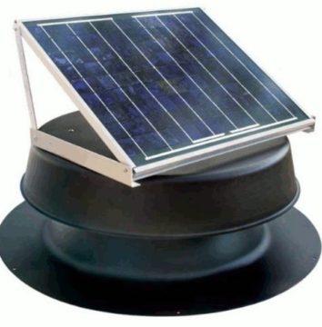 Natural Light 36-Watt Solar Attic Fan- Ventilator Fan