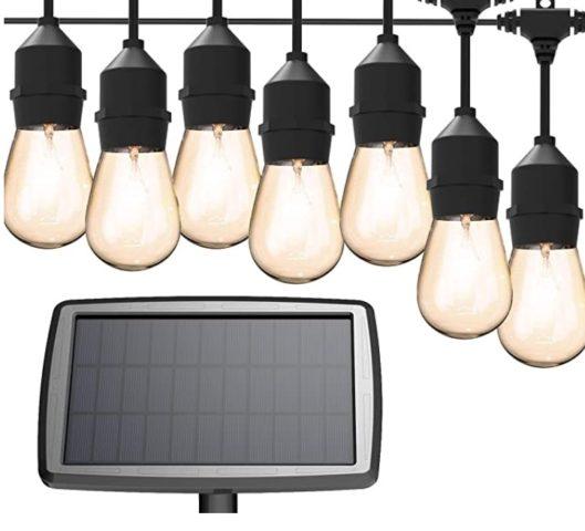Solar String Lights for backyard MagicPro 15 LED Light Bulbs