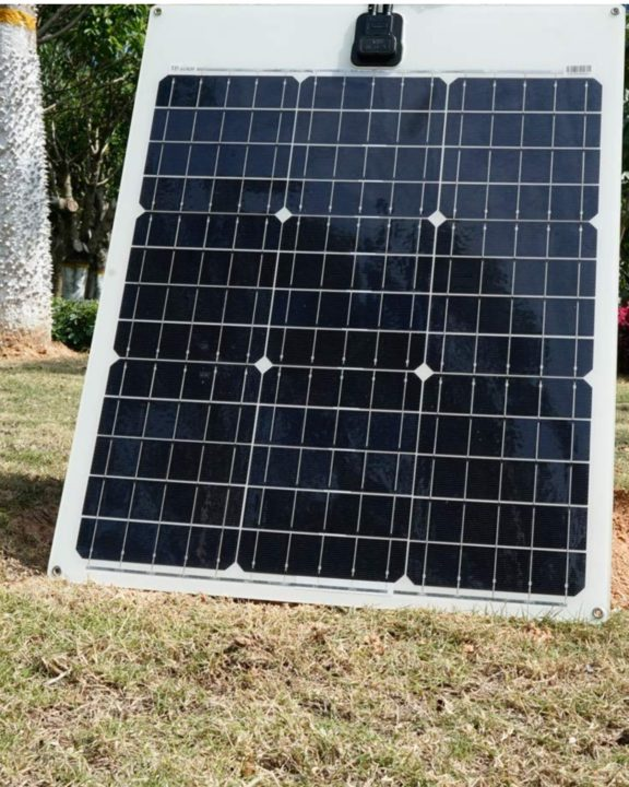 TP-Solar 50W Flexible Solar Panel installed in an outdoor area