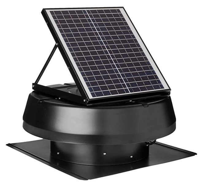iLIVING HYBRID Smart Exhaust Solar Roof Attic Exhaust Fan