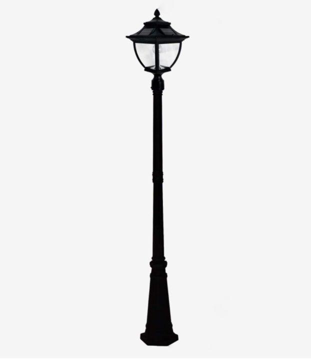 GAMA SONIC Pagoda Bulb Solar Lamp post