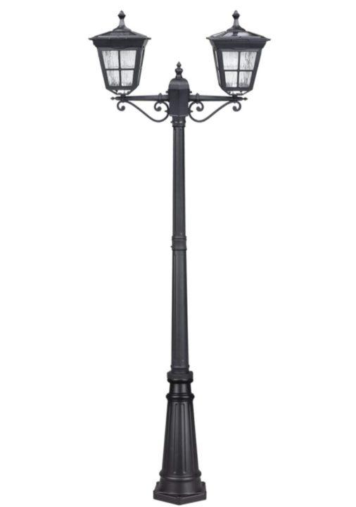 Kemeco ST4311AB1-2 LED Cast Aluminum Double Head Solar Lamp Post Light Street Light for Outdoor