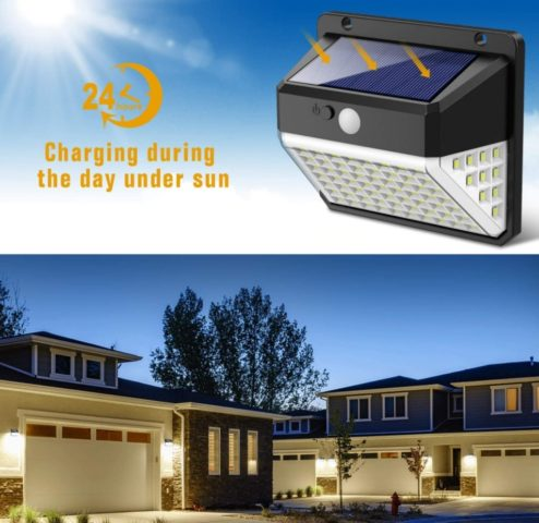 Angle Solar Powered Waterproof Fence Lights
