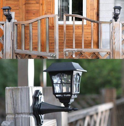 Maggift Solar Fence Wall Lantern