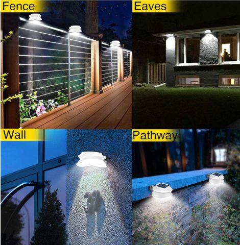 Solar Gutter Fence Post Lamps